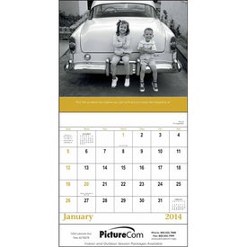 Monogrammed Good Old Days - Stapled Calendar