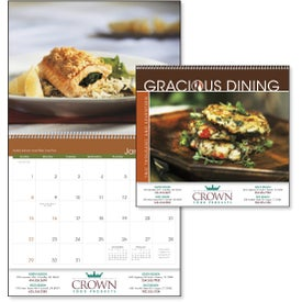 Promotional Gracious Dining Appointment Calendar