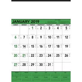 Monogrammed Green and Black Contractors Memo Calendar