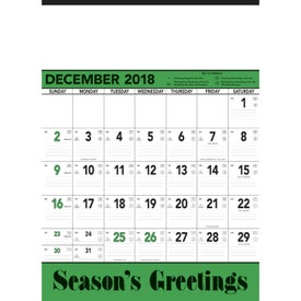 Green and Black Contractors Memo Calendar for Your Church