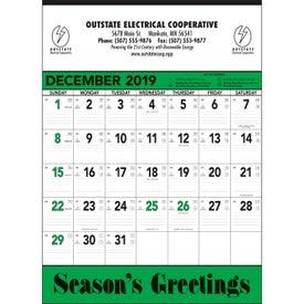 Green and Black Contractors Memo Calendar (2020)