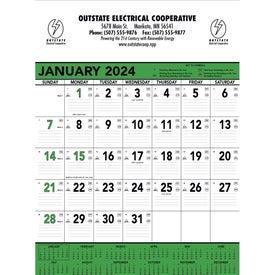 Green and Black Contractors Memo Calendar (2017)