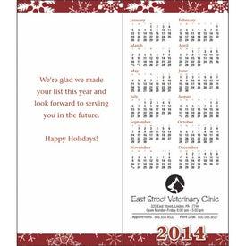 Greet 'n' Keep Calendar Card Imprinted with Your Logo