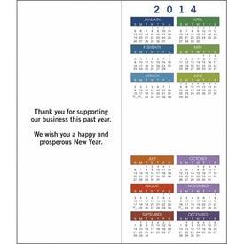 Imprinted Greet 'n' Keep Calendar Card