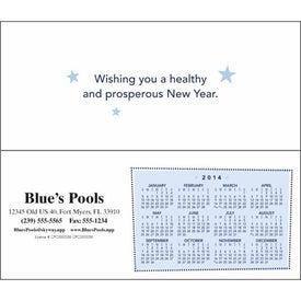 Greet 'n' Keep Calendar Card for Advertising