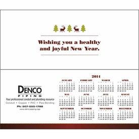 Greet 'n' Keep Calendar Card with Your Slogan