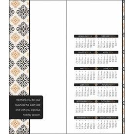 Monogrammed Greet 'n' Keep Calendar Card