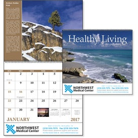 Healthy Living Spiral Calendar for Customization