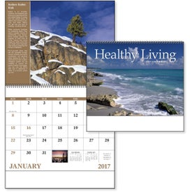 Healthy Living Spiral Calendar Giveaways