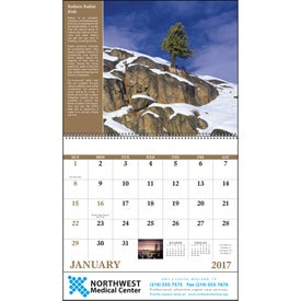 Healthy Living Spiral Calendar Giveaways
