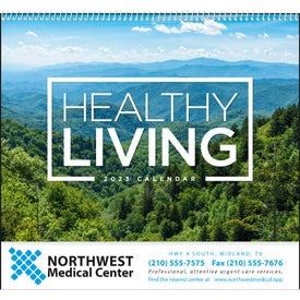 Personalized Healthy Living Spiral Calendar