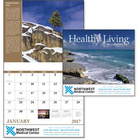 Printed Healthy Living Stapled Calendar