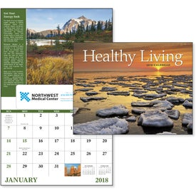 Healthy Living Window Calendar Branded with Your Logo