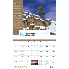Monogrammed Healthy Living Window Calendar