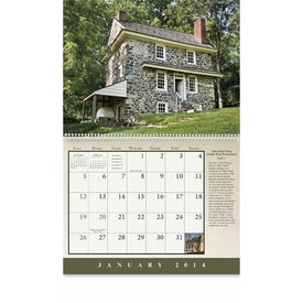Imprinted Historic American Homes Wall Calendar