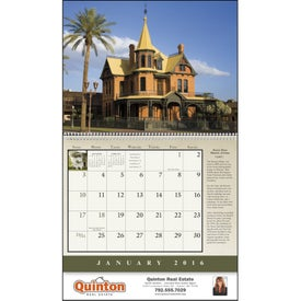 Historic American Homes Wall Calendar for Marketing