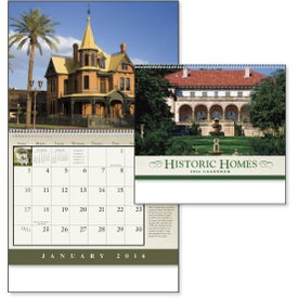 Historic American Homes Wall Calendar Printed with Your Logo