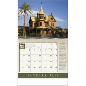 Customized Historic American Homes Wall Calendar