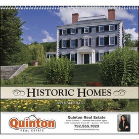 Printed Historic American Homes Wall Calendar