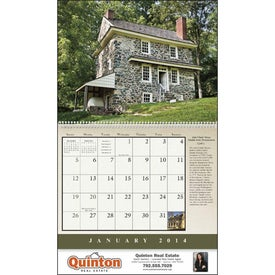 Monogrammed Historic American Homes Wall Calendar