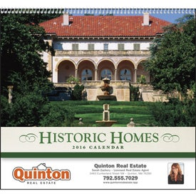 Promotional Historic American Homes Wall Calendar