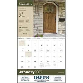 Home Improvement Tips - Calendar Printed with Your Logo