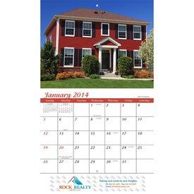 Homes Wall Calendar for Customization