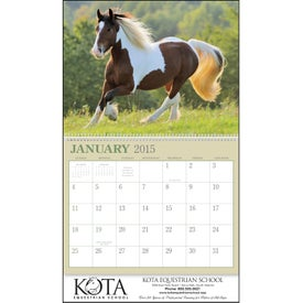 Advertising Horses 12 Month Appointment Calendar