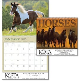 Horses 12 Month Appointment Calendar with Your Slogan