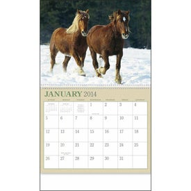 Horses 12 Month Appointment Calendar Imprinted with Your Logo