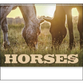 Horses 12 Month Appointment Calendar for your School