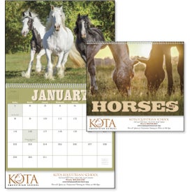 Imprinted Horses 12 Month Appointment Calendar