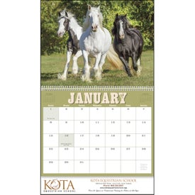 Horses 12 Month Appointment Calendar for Customization