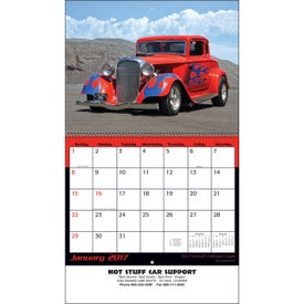 Hot Rods Wall Calendar Printed with Your Logo