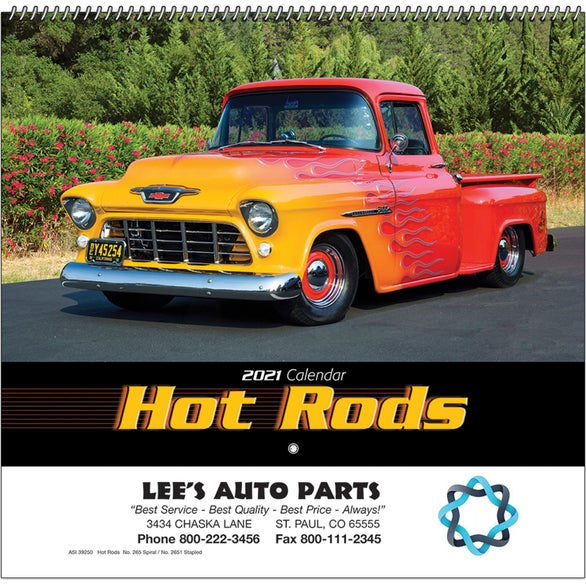 See Item Hot Rods Wall Calendar