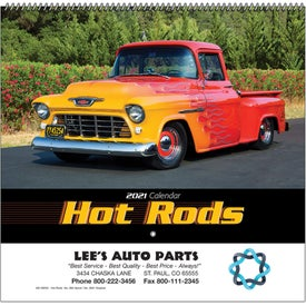 Hot Rods Wall Calendar (Spiral)