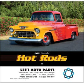 Hot Rods Wall Calendar (Stapled)