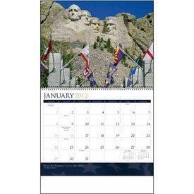 I Love America Spiraled Calendar