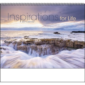 Inspirations for Life Spiral Calendar Imprinted with Your Logo