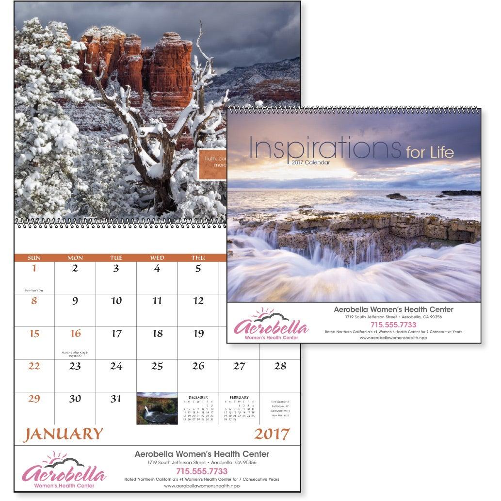 Calendar Inspirations : Inspirations for life spiral calendar custom