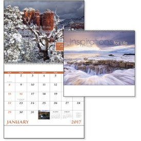 Inspirations for Life Spiral Calendar with Your Slogan
