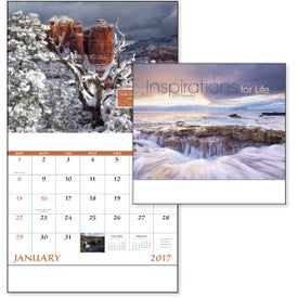 Imprinted Inspirations for Life Stapled Calendar