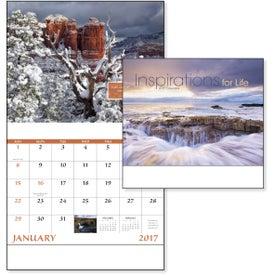Imprinted Inspirations for Life Stapled Calendar