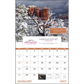 Monogrammed Inspirations for Life Window Calendar