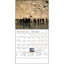 Jewish Life Spiral Calendar for Advertising