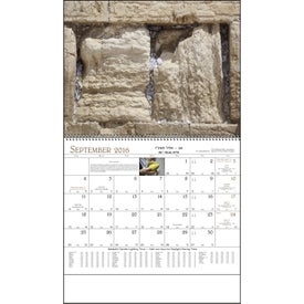 Jewish Life Spiral Calendar Printed with Your Logo