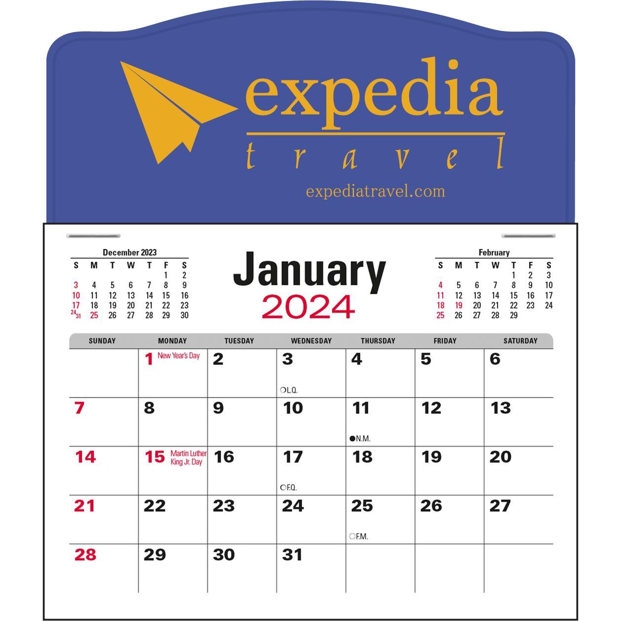 Jumbo 3 Month Calendar Pad