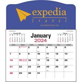 Jumbo 3 Month Calendar Pad for Your Company