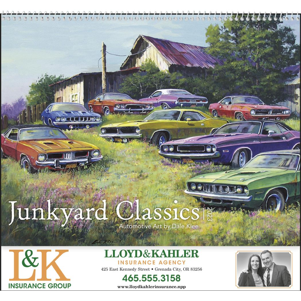 Promotional 2019 Junkyard Classics Calendar by Dale Klees with ...