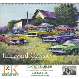 Junkyard Classics Calendar by Dale Klee (2021)